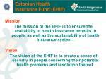 estonian health insurance fund ehif
