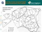 overview of areas served by hospital network development plan hospitals