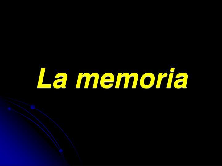 la memoria n.