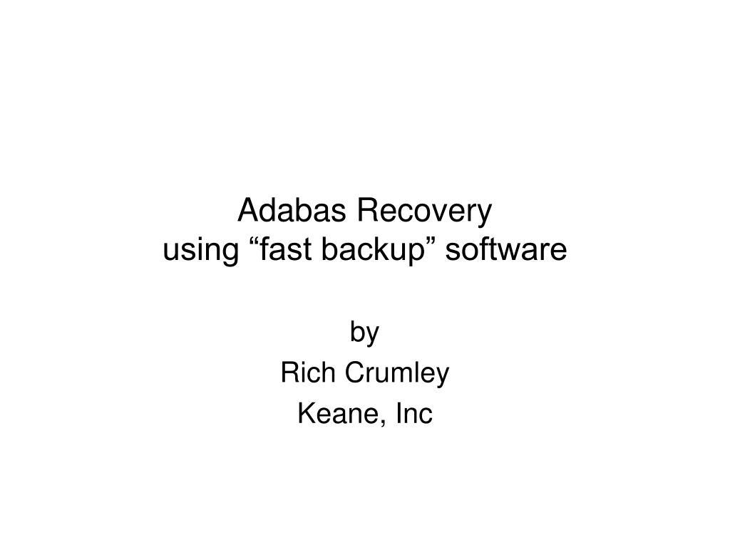 Adabas Recovery