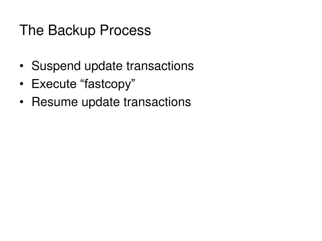 The Backup Process