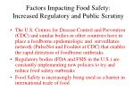 factors impacting food safety increased regulatory and public scrutiny