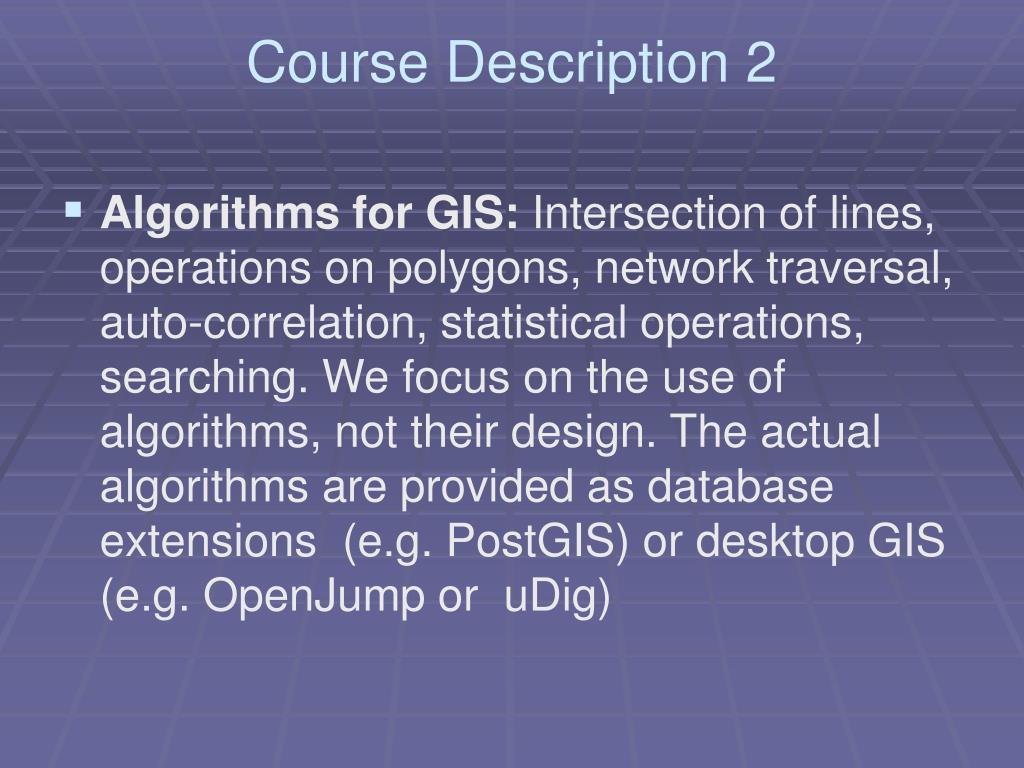 Course Description 2