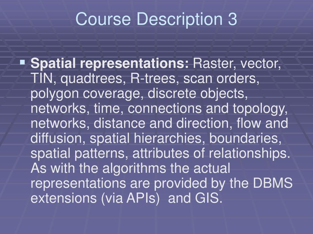 Course Description 3