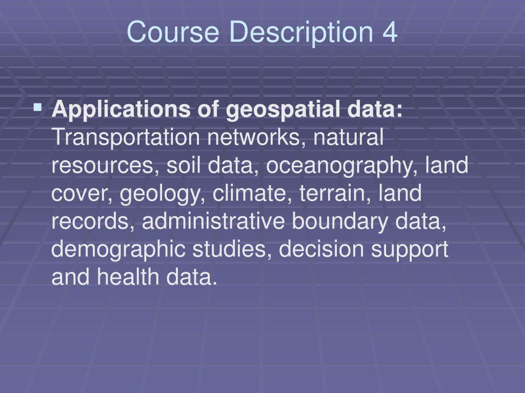 Course Description 4