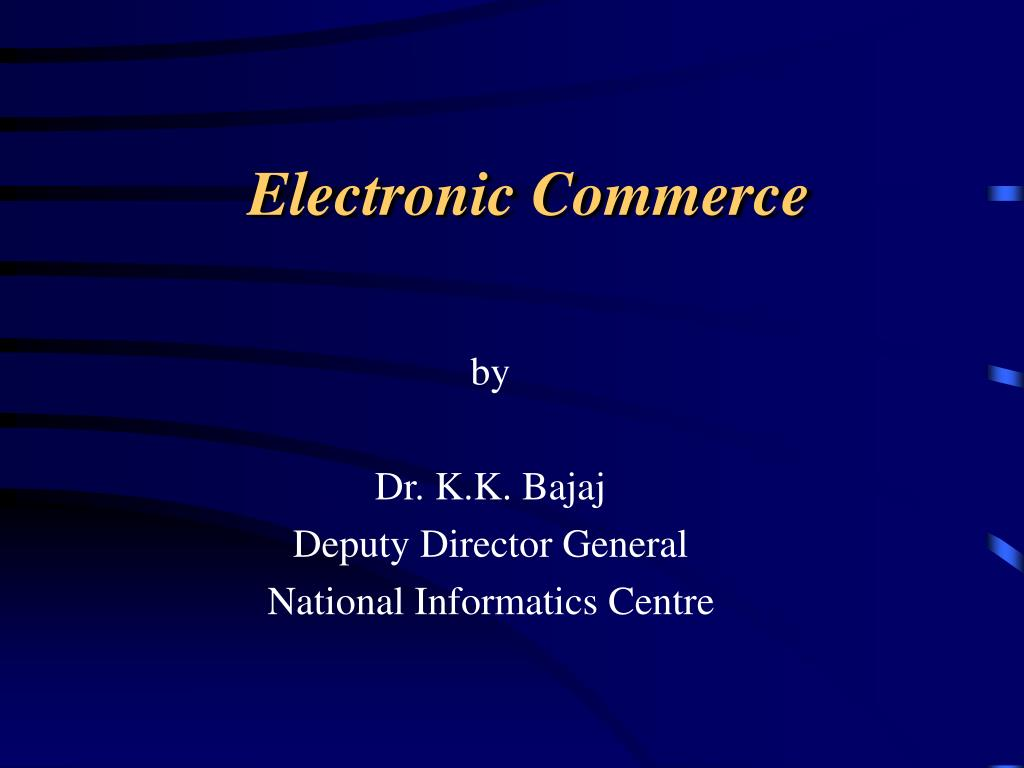 electronic commerce l.