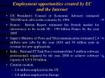 employment opportunities created by ec and the internet