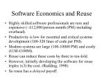 software economics and reuse