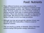 food nutrients