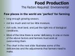 food production the factors required environmental20