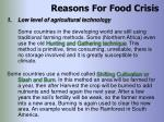reasons for food crisis25