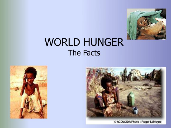 world hunger the facts n.