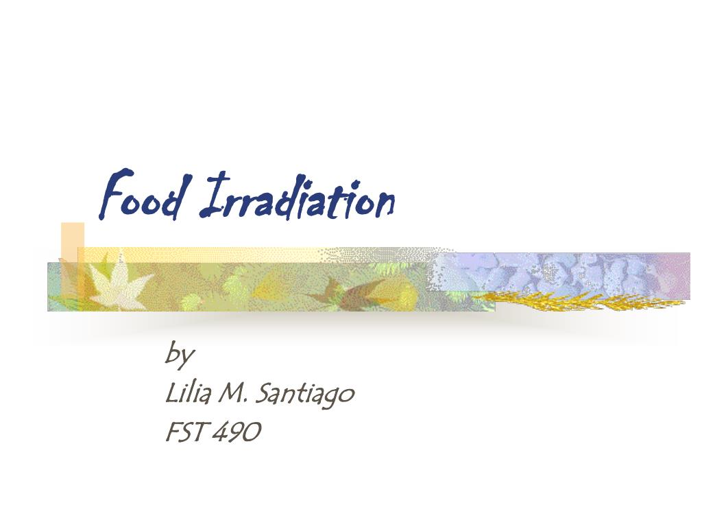 food irradiation l.