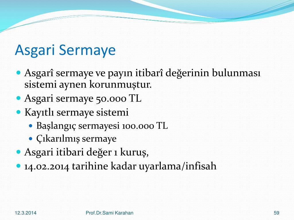 Asgari Sermaye