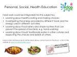 personal social health education