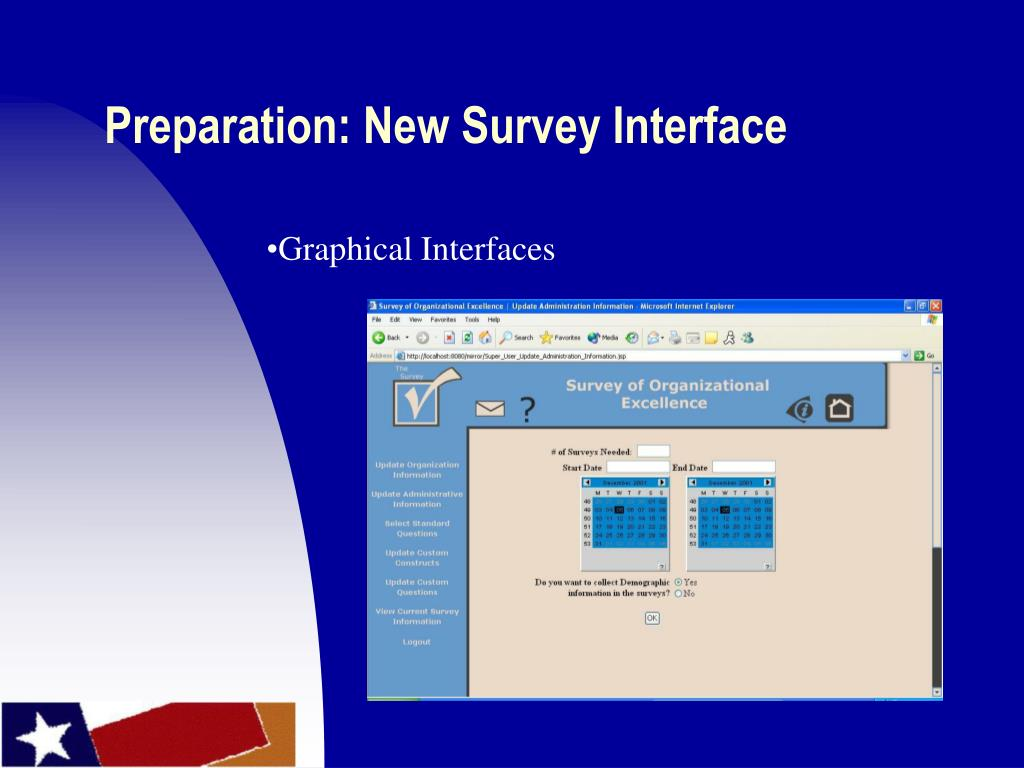 Preparation: New Survey Interface