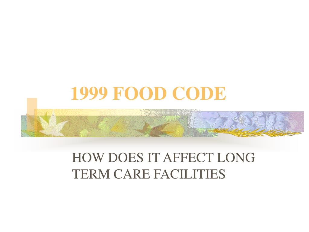 1999 food code l.