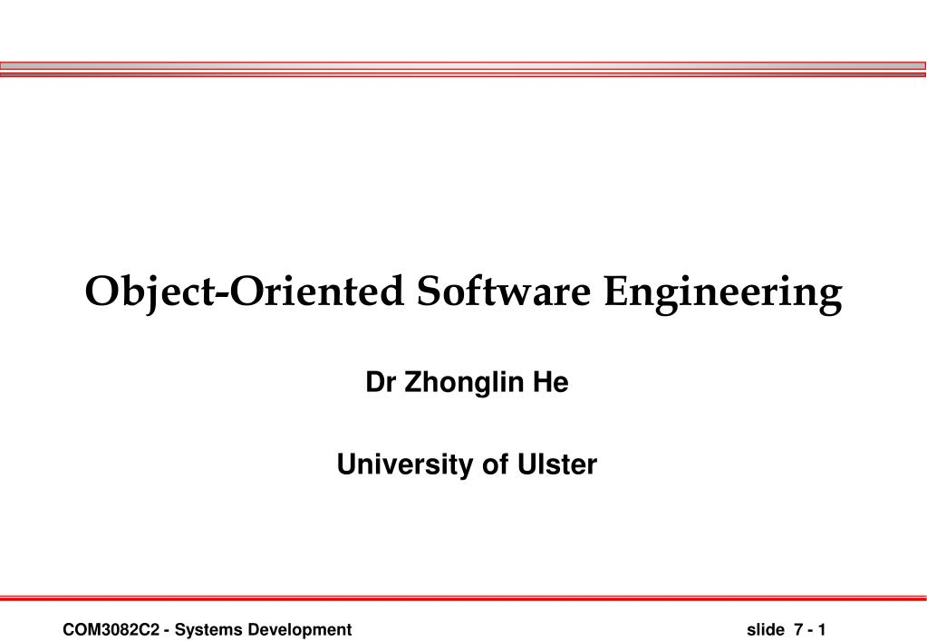 object oriented software engineering l.