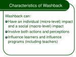 characteristics of washback18