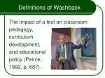 definitions of washback
