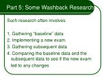 part 5 some washback research