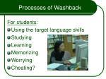 processes of washback