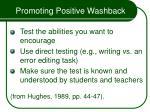 promoting positive washback55