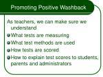 promoting positive washback56