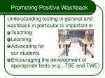 promoting positive washback58