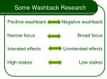 some washback research50