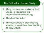 the sri lankan impact study