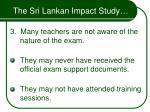 the sri lankan impact study33