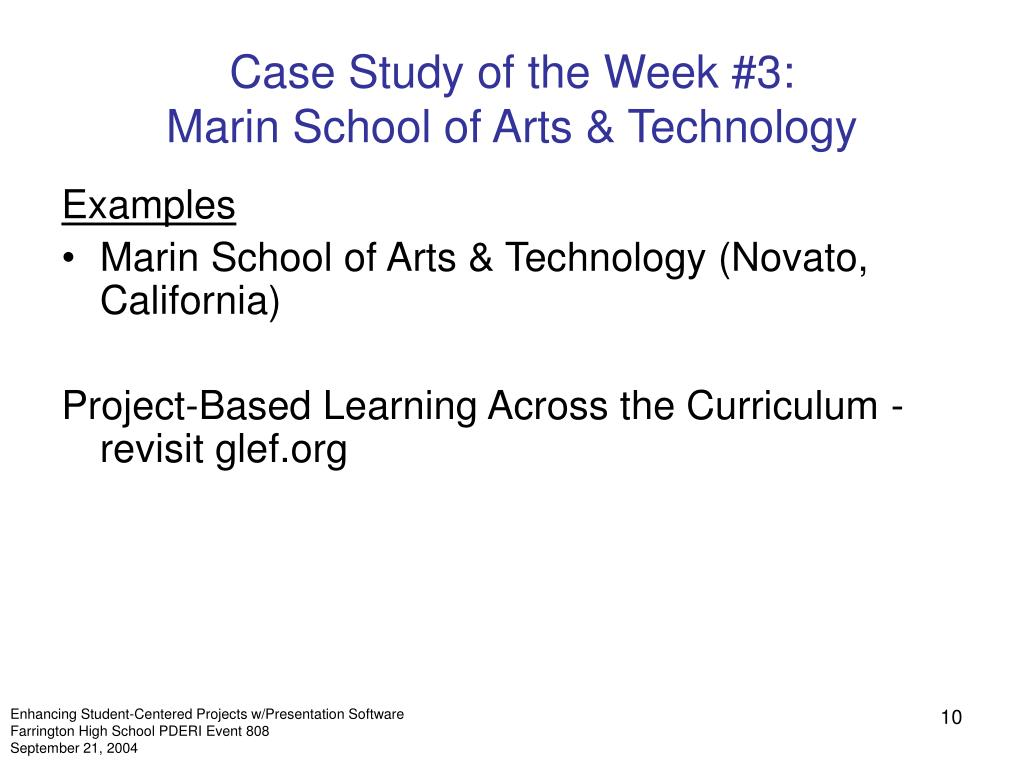 Case Study of the Week #3: