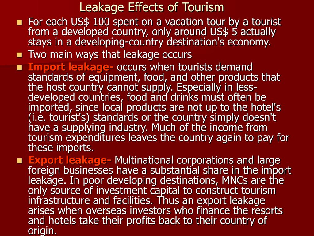 effects of tourism in host countries
