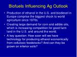 biofuels influencing ag outlook