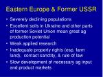 eastern europe former ussr