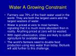water a growing constraint