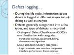 defect logging51