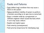 faults and failures