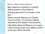metrics defect removal efficiency