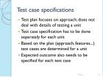 test case specifications