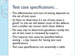 test case specifications44