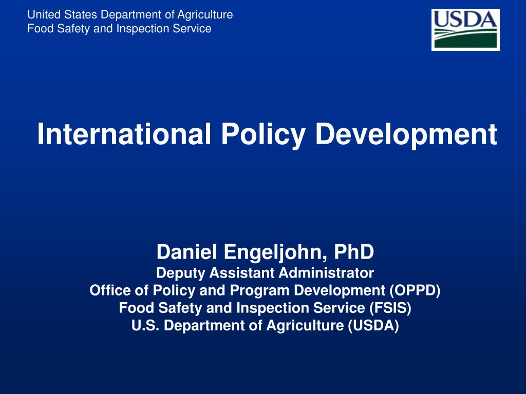 international policy development l.