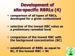 development of site specific rbrls 4