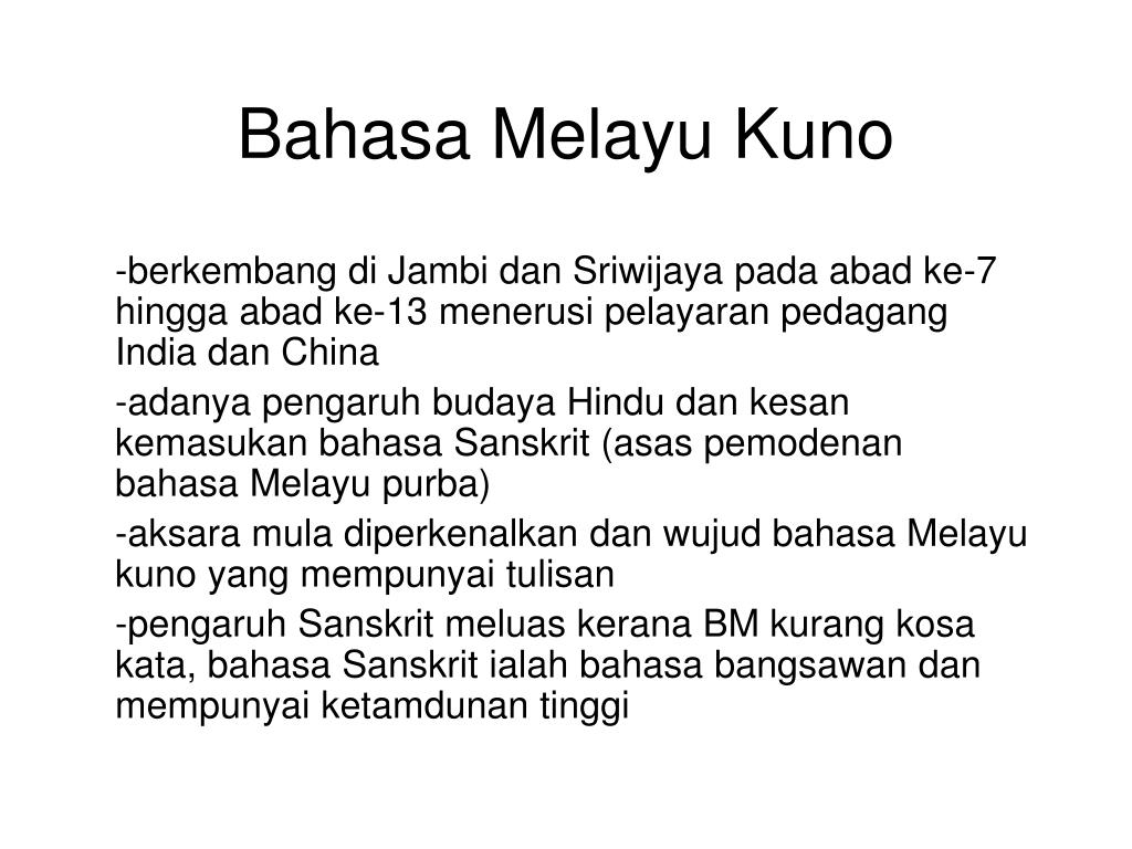 Ppt Bahasa Melayu Kuno Powerpoint Presentation Free Download Id 412361