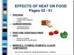 effects of heat on food pages 52 51
