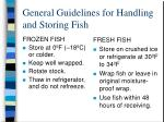general guidelines for handling and storing fish