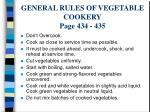 general rules of vegetable cookery page 434 435