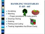 handling vegetables p 435 445