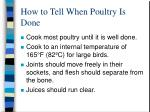 how to tell when poultry is done